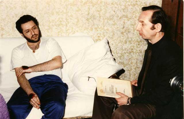 Russia - Mosca 26 Marzo 1992 incontro con il Dott. Vyaceslav F. Potemkin presidente dell'accademia internazionale degli Scienziati indipendenti.