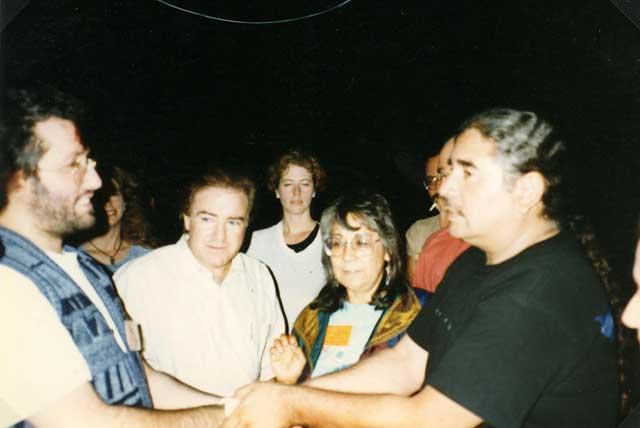 Sud Dakota 14 Giugno 1996 Giorgio incontra gli Indiani D'America Lakota Dakota.