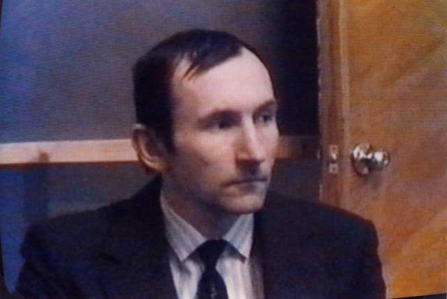 Russia - Tver 5 Febbraio 1997 Viaceslav Bulojcik comandante maggiore dell'Accademia Specialista della Ricerca sugli UFO in Russia.