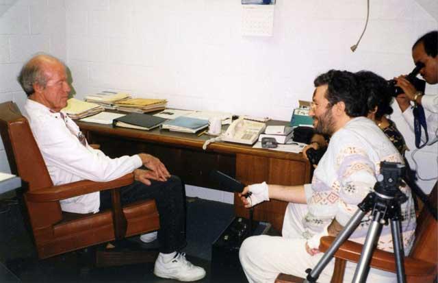 Los Angeles 20 Novembre 1997 Giorgio Intervista all'astronauta Gordon Cooper.