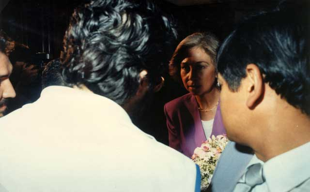 Paraguay 20 Ottobre 1990 Giorgio incontra la Regina Sofia di Spagna.