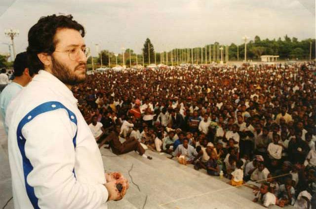 Kinshasa 28 Marzo 1991 Giorgio Bongiovanni durante una conferenza.