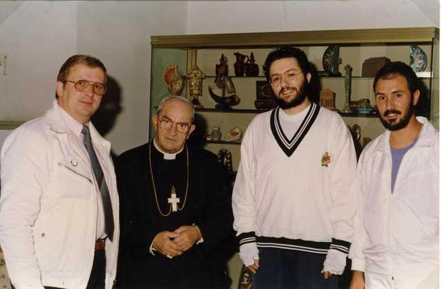 Roma 17 Ottobre 1991 Giorgio Bongiovanni, suo fratello Filippo e il giornalista svizzero Pierre Andrè Modoux incontrano il cardinale Silvio Oddi.