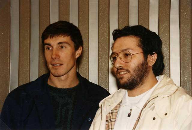 Giorgio Bongiovanni e il Cosmonauta Serghei Krikaliov.