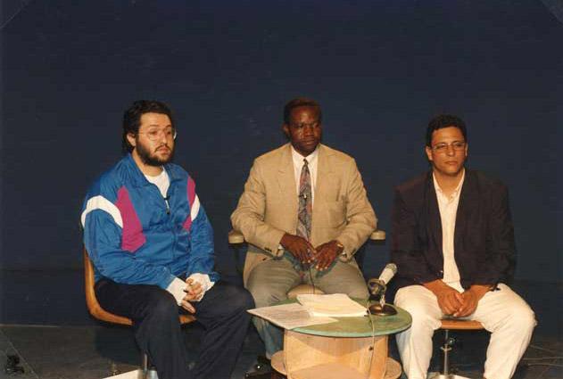 Zaire 25 Dicembre 1992 Vigilia di Natale Giorgio a TV Zaire in diretta per circa un'ora parla a 50.000.000 di telespettatori.