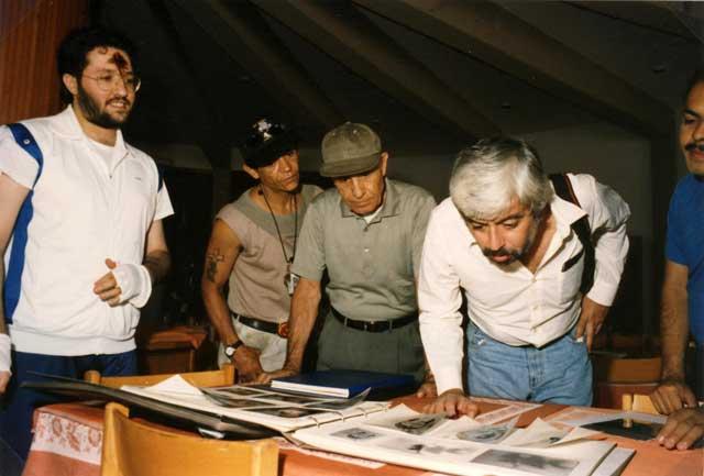 Sicilia - Nicolosi 11 Settembre 1993 Giorgio Bongiovanni ed Eugenio Siragusa con il Giornalista Messicano Jaime Maussan.