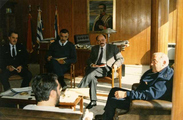 Uruguay - Montevideo Marzo 1996 Giorgio incontra i Militari.