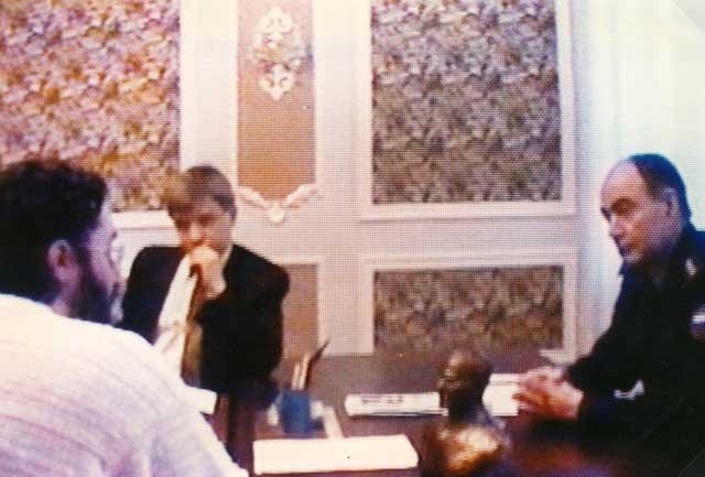Russia - Tver 5 Febbraio 1997 da Sinistra: Giorgio Bongiovanni, V.Zhurkin, Rescetnicov.