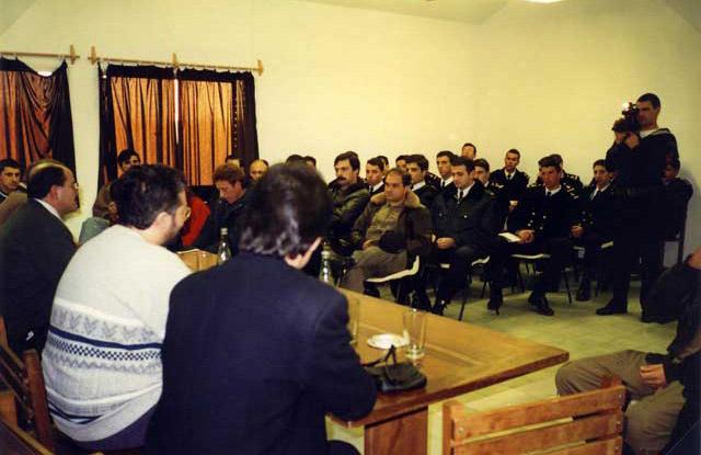 Viaggio in Sud America 29 Giugno 1997 Giorgio ha intervistato il Comandante Generale dell'Esercito di Terra dell'Uruguay, Raul Mermot.