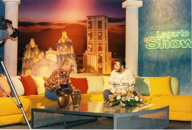"""Viaggio in Sud America 29 Giugno 1997 Giorgio intervistato nel programma """"Lagarto Show"""""""