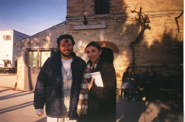"""Porto S. Elpidio 5 Febbraio 1998 Giorgio intervistato per il programma """"cronaca in diretta"""" Rai2."""